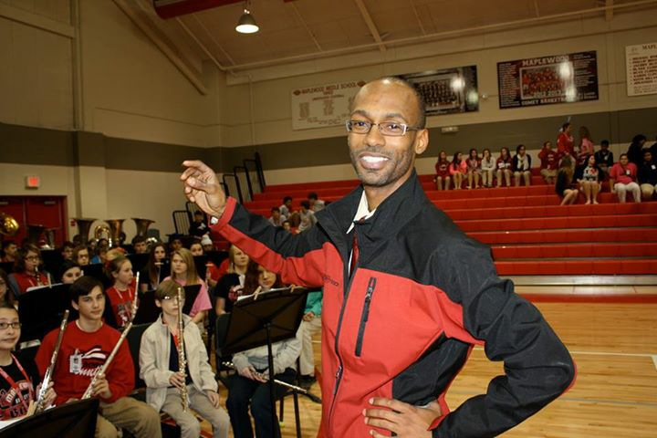 Maplewood Middle School Band Director Huber Smith