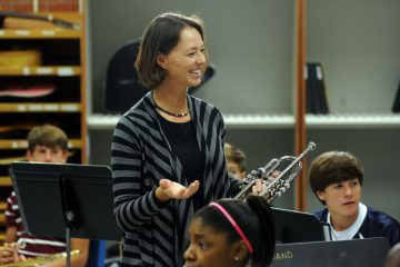 Krista Fanning with her band class