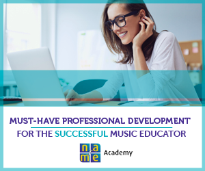 NAfME Academy web banner ad