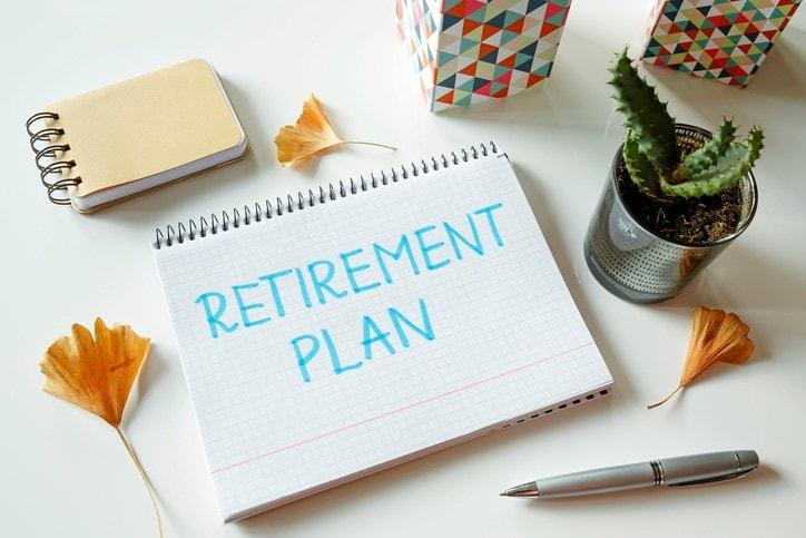 retirement plan written in notebook
