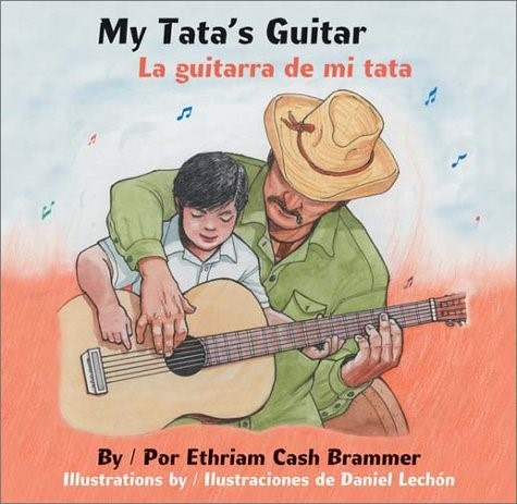 My Tata's Guitar book cover boy in grandfather's lap with guitar