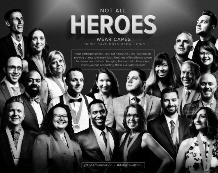 Not all heroes wear capes composite image of music teachers of excellence award winners