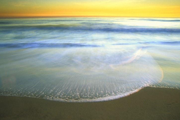 beach sunset landscape ebb and flow