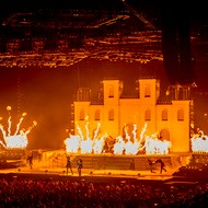 stage image from Trans Siberian Orchestra performance with pyrotechnics