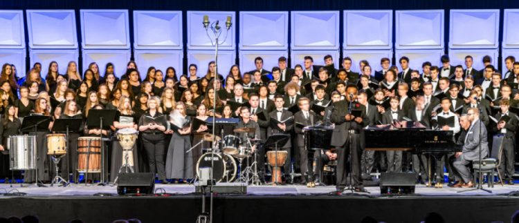 2019 ANHE mixed choir on stage