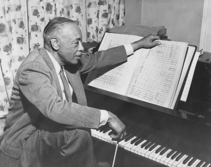 William Grant Still at piano