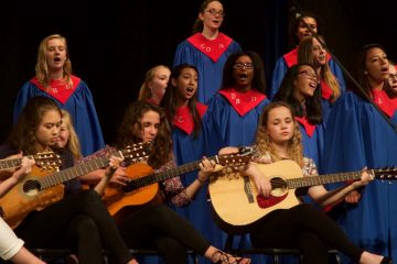 guitar and choral students