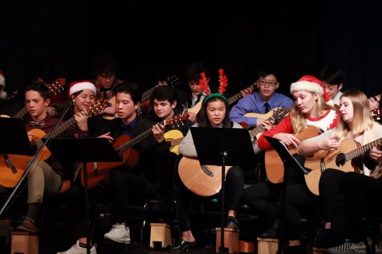 holiday guitar performance