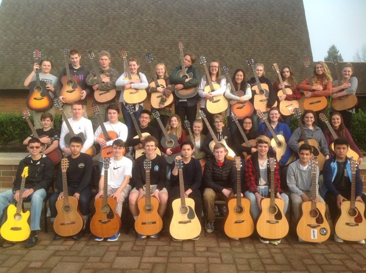 guitar students group photo in the Beaver State of Oregon