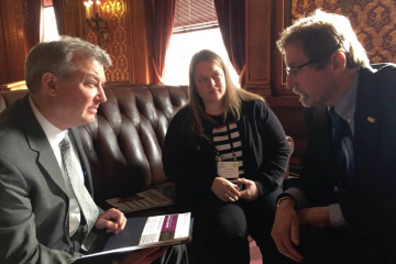 music advocates meet with Wisconsin lawmaker