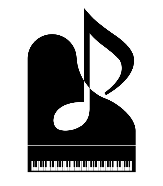 piano and a note vector image