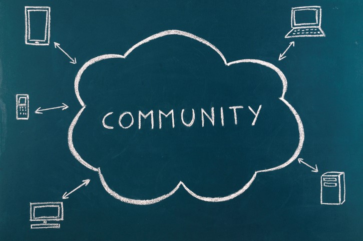 Cloud Computing Concept online community mobile devices