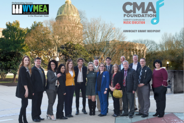 West Virginia music educators with CMA Foundation at state capital