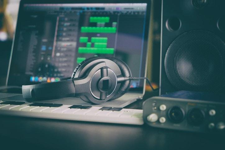 Home Studio Computer Music Station portable set up