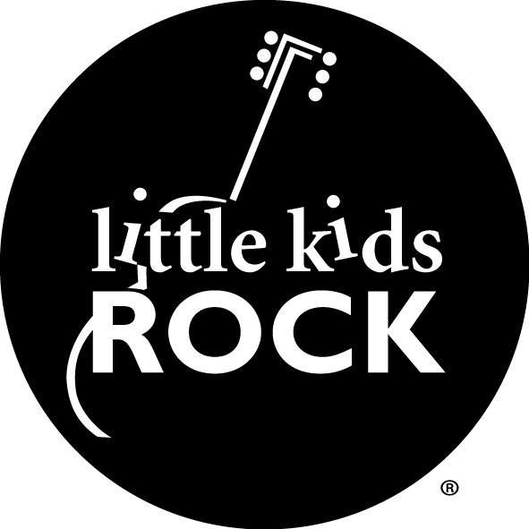 black and white Little Kids Rock logo