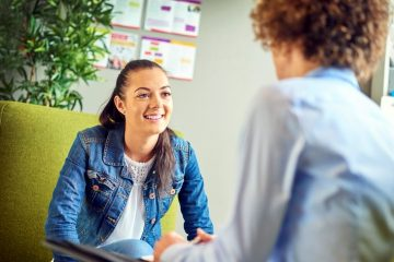 careers guidance counselor advising student