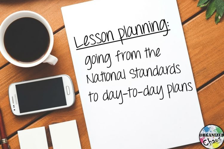 lesson planning broad to specific