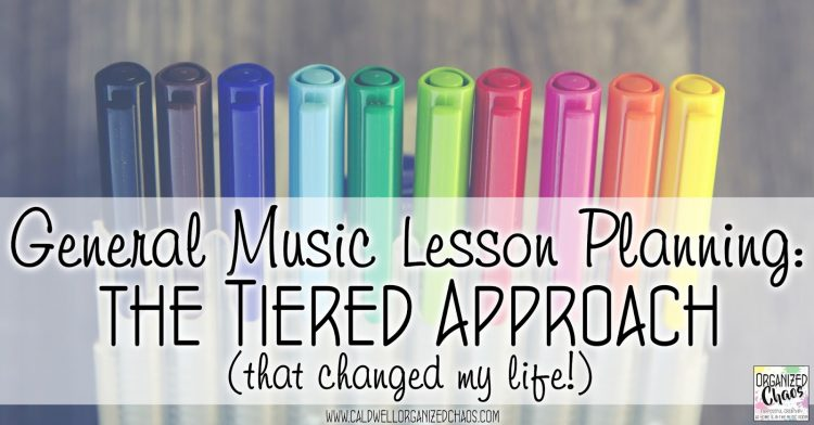 general music lesson planning tiered approach