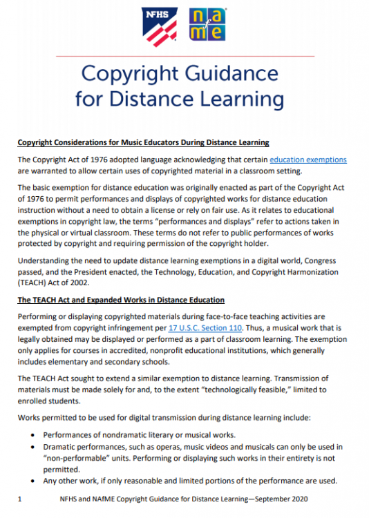 distance learning guidance