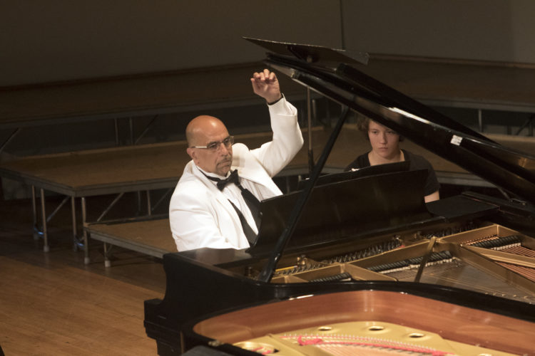 Anthony Patterson at piano
