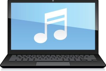 Laptop Displaying Musical Note