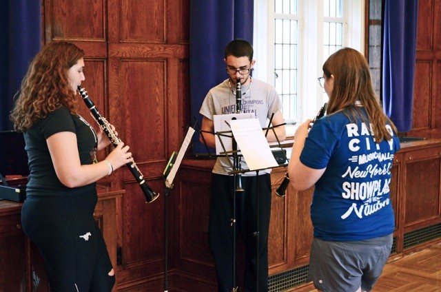 students playing woodwinds