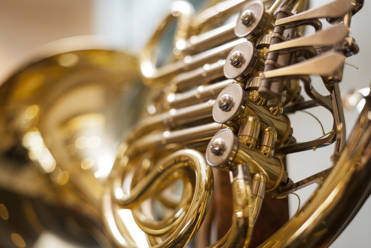 Close up of French Horn