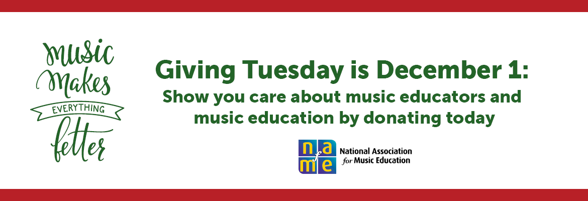 Giving Tuesday, donation, music education
