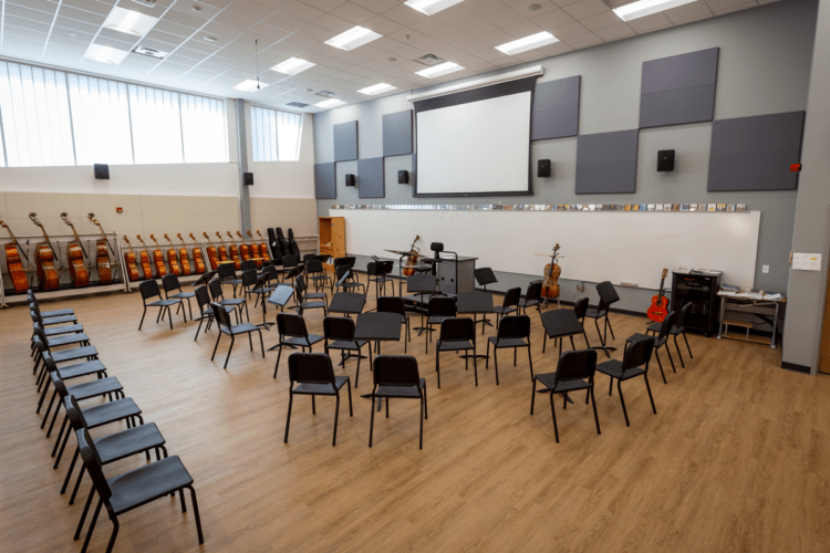 Orchestra room provides a facility for community to enjoy music