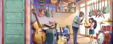 children's picture books Finding the Music inside illustration