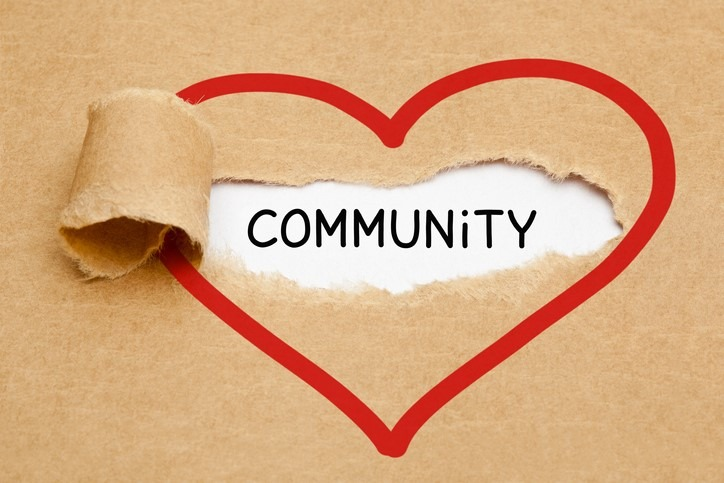 Community Ripped Heart Paper Concept