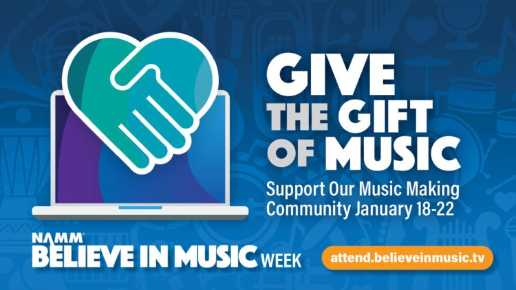 NAMM Show Believe in Music Week donation
