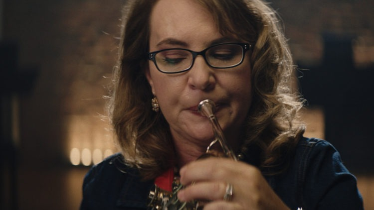 Gabrielle Giffords playing French horn