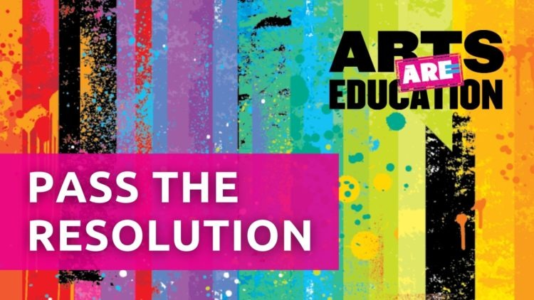 arts are education resolution