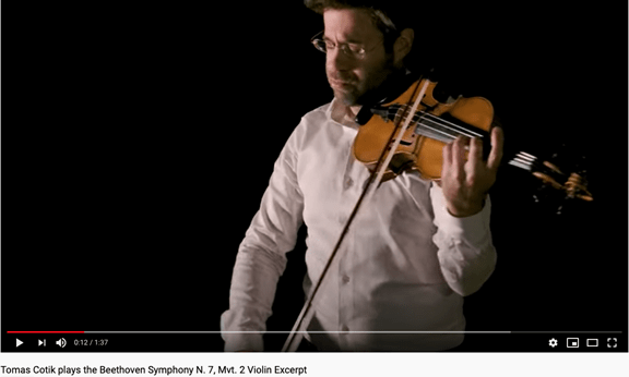 Tomas Cotik plays Beethoven violin audition excerpt