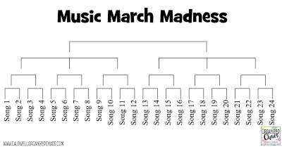 March Madness song bracket