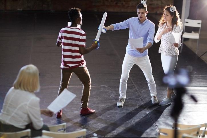 Scene of sword fighting