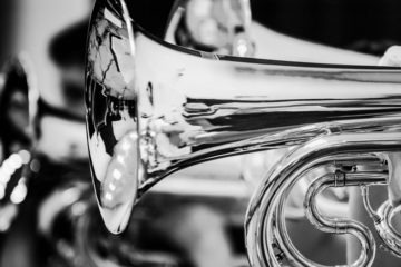 brass instrument closeup