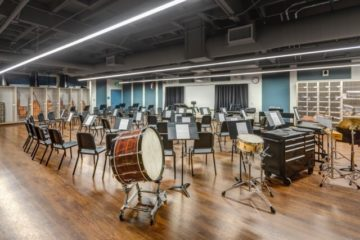 Music Room with drum