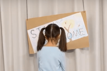2nd grade student in home studio