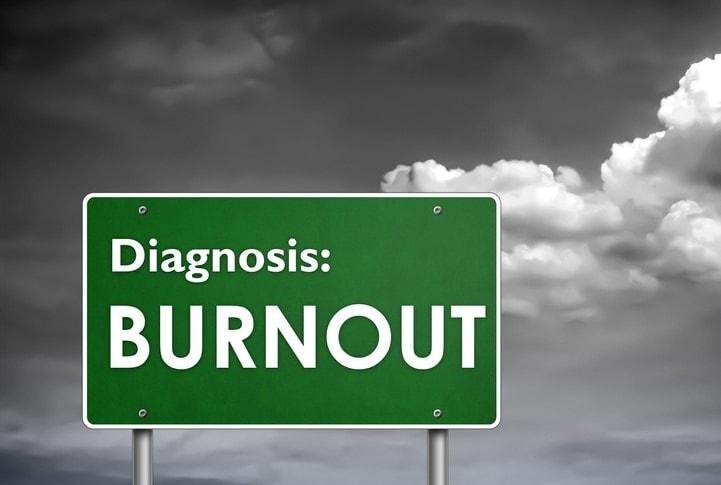 street sign reading Diagnosis Burnout
