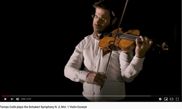 Tomas Cotik playing Schubert Symphony No 2 Mvt 1