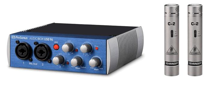 PreSonus Audio Box USB 96 and Behringer C-2 Mics