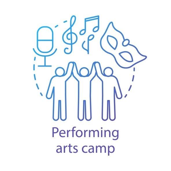 performing arts camp vector