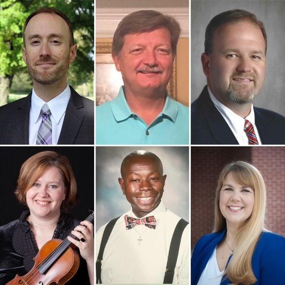 composite headshots of 6 members of Georgia MEA leadership