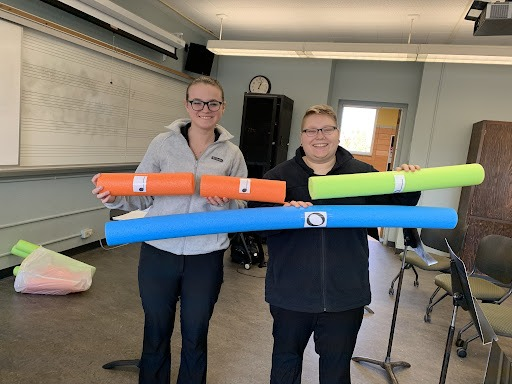 music games with pool noodles