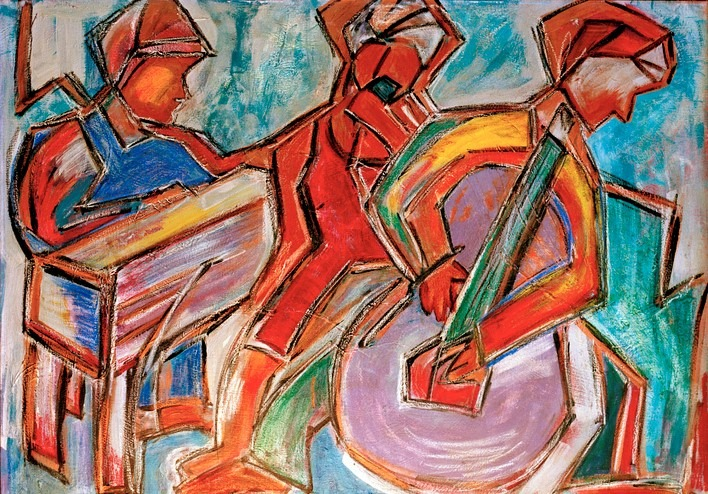 Jazz Musicians Painting